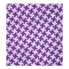 Houndstooth2 White Marble & Purple Denim Shower Curtain 66  X 72  (large)  by trendistuff