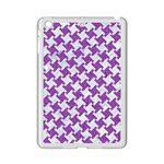 HOUNDSTOOTH2 WHITE MARBLE & PURPLE DENIM iPad Mini 2 Enamel Coated Cases Front