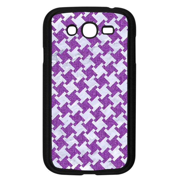 HOUNDSTOOTH2 WHITE MARBLE & PURPLE DENIM Samsung Galaxy Grand DUOS I9082 Case (Black)