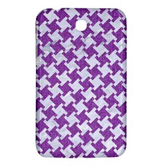 Houndstooth2 White Marble & Purple Denim Samsung Galaxy Tab 3 (7 ) P3200 Hardshell Case
