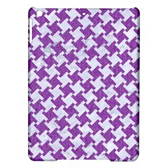 Houndstooth2 White Marble & Purple Denim Ipad Air Hardshell Cases by trendistuff