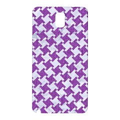Houndstooth2 White Marble & Purple Denim Samsung Galaxy Note 3 N9005 Hardshell Back Case by trendistuff