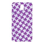 HOUNDSTOOTH2 WHITE MARBLE & PURPLE DENIM Samsung Galaxy Note 3 N9005 Hardshell Back Case Front