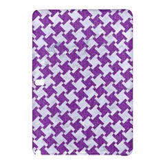 Houndstooth2 White Marble & Purple Denim Samsung Galaxy Tab Pro 10 1 Hardshell Case by trendistuff