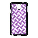 HOUNDSTOOTH2 WHITE MARBLE & PURPLE DENIM Samsung Galaxy Note 3 Neo Hardshell Case (Black) Front