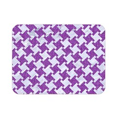Houndstooth2 White Marble & Purple Denim Double Sided Flano Blanket (mini)  by trendistuff