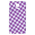 HOUNDSTOOTH2 WHITE MARBLE & PURPLE DENIM Galaxy Note 4 Back Case Front
