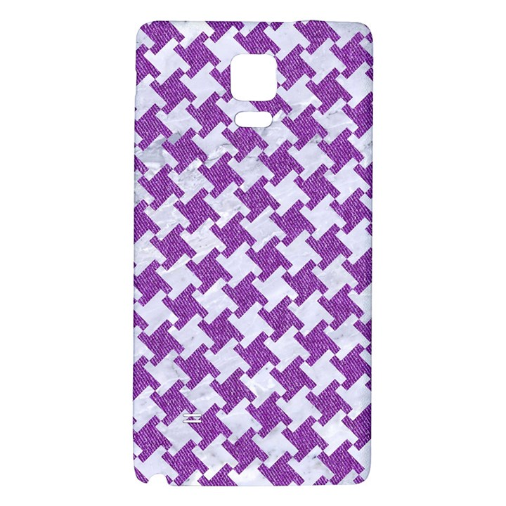 HOUNDSTOOTH2 WHITE MARBLE & PURPLE DENIM Galaxy Note 4 Back Case