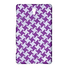 Houndstooth2 White Marble & Purple Denim Samsung Galaxy Tab S (8 4 ) Hardshell Case