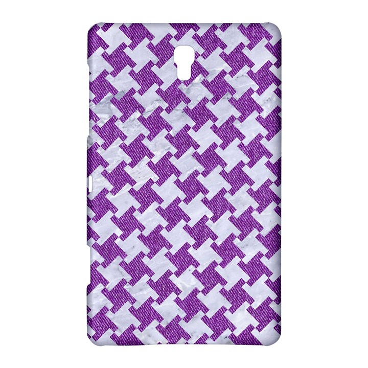 HOUNDSTOOTH2 WHITE MARBLE & PURPLE DENIM Samsung Galaxy Tab S (8.4 ) Hardshell Case