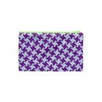 HOUNDSTOOTH2 WHITE MARBLE & PURPLE DENIM Cosmetic Bag (XS) Back