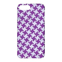 Houndstooth2 White Marble & Purple Denim Apple Iphone 7 Plus Hardshell Case by trendistuff