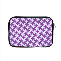 Houndstooth2 White Marble & Purple Denim Apple Macbook Pro 15  Zipper Case by trendistuff