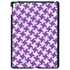 Houndstooth2 White Marble & Purple Denim Apple Ipad Pro 9 7   Black Seamless Case