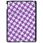 HOUNDSTOOTH2 WHITE MARBLE & PURPLE DENIM Apple iPad Pro 9.7   Black Seamless Case Front
