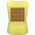 HOUNDSTOOTH1 WHITE MARBLE & PURPLE DENIM Women s Yellow Tank Top Back