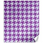 HOUNDSTOOTH1 WHITE MARBLE & PURPLE DENIM Canvas 20  x 24   24 x20 Canvas - 1