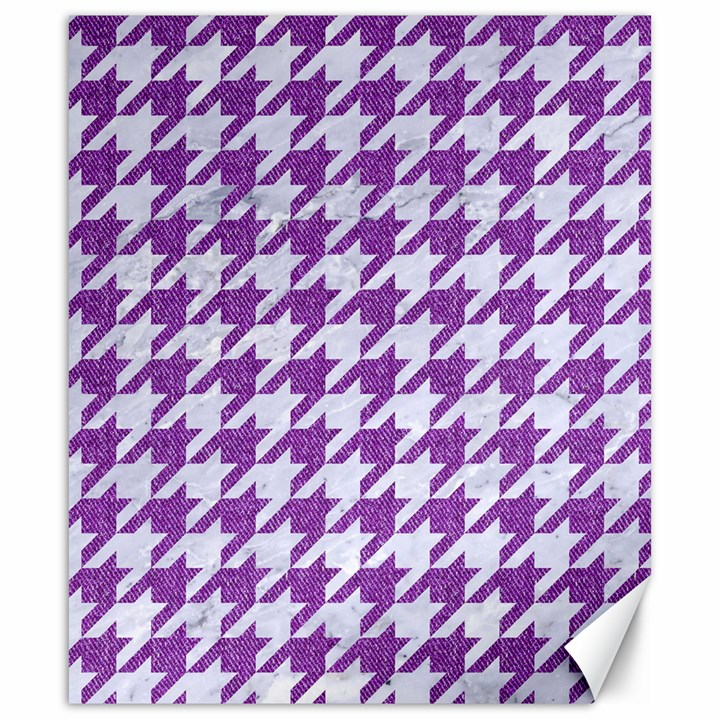 HOUNDSTOOTH1 WHITE MARBLE & PURPLE DENIM Canvas 20  x 24