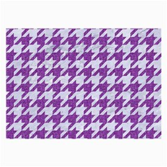 Houndstooth1 White Marble & Purple Denim Large Glasses Cloth (2 Side)