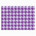 HOUNDSTOOTH1 WHITE MARBLE & PURPLE DENIM Large Glasses Cloth (2-Side) Front