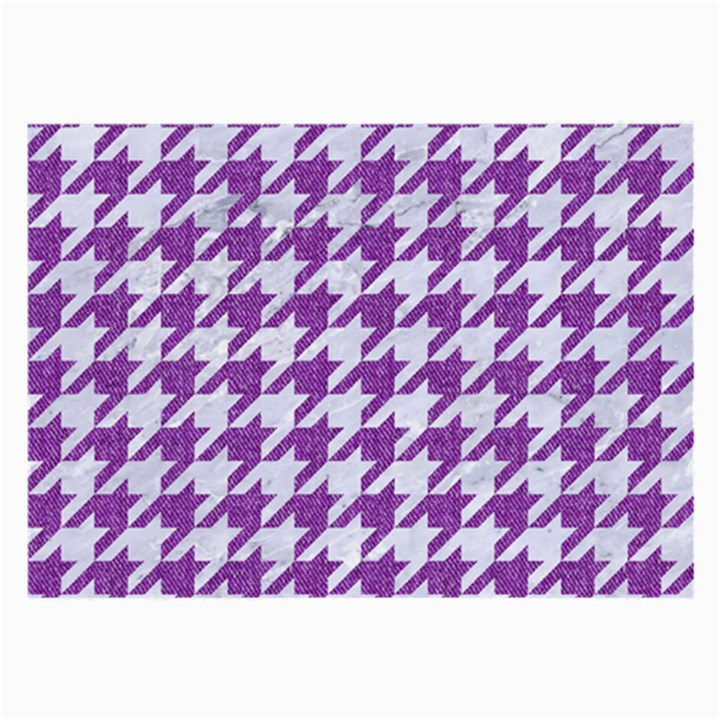HOUNDSTOOTH1 WHITE MARBLE & PURPLE DENIM Large Glasses Cloth (2-Side)