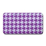 HOUNDSTOOTH1 WHITE MARBLE & PURPLE DENIM Medium Bar Mats 16 x8.5 Bar Mat - 1