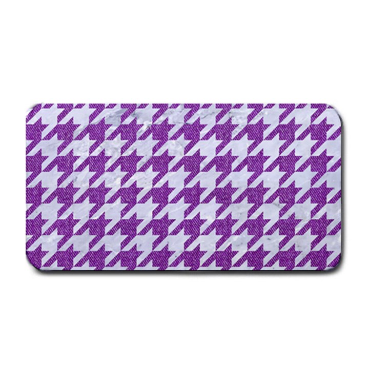 HOUNDSTOOTH1 WHITE MARBLE & PURPLE DENIM Medium Bar Mats