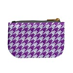HOUNDSTOOTH1 WHITE MARBLE & PURPLE DENIM Mini Coin Purses Back