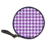 HOUNDSTOOTH1 WHITE MARBLE & PURPLE DENIM Classic 20-CD Wallets Front