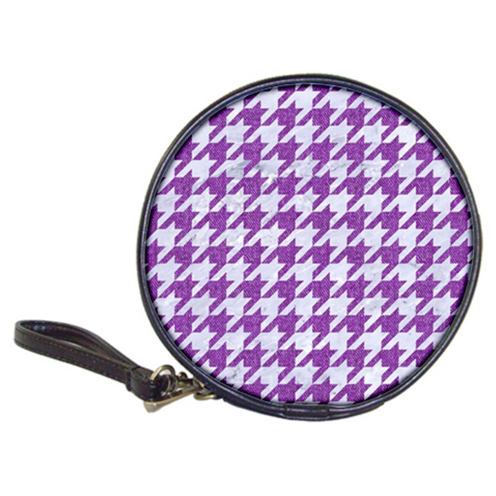 HOUNDSTOOTH1 WHITE MARBLE & PURPLE DENIM Classic 20-CD Wallets