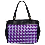 HOUNDSTOOTH1 WHITE MARBLE & PURPLE DENIM Office Handbags Front