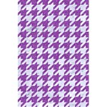 HOUNDSTOOTH1 WHITE MARBLE & PURPLE DENIM 5.5  x 8.5  Notebooks Back Cover Inside