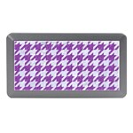 HOUNDSTOOTH1 WHITE MARBLE & PURPLE DENIM Memory Card Reader (Mini) Front