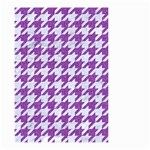 HOUNDSTOOTH1 WHITE MARBLE & PURPLE DENIM Small Garden Flag (Two Sides) Back