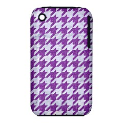 Houndstooth1 White Marble & Purple Denim Iphone 3s/3gs by trendistuff