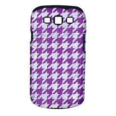Houndstooth1 White Marble & Purple Denim Samsung Galaxy S Iii Classic Hardshell Case (pc+silicone) by trendistuff
