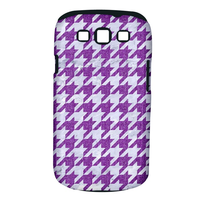 HOUNDSTOOTH1 WHITE MARBLE & PURPLE DENIM Samsung Galaxy S III Classic Hardshell Case (PC+Silicone)