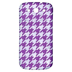 Houndstooth1 White Marble & Purple Denim Samsung Galaxy S3 S Iii Classic Hardshell Back Case by trendistuff
