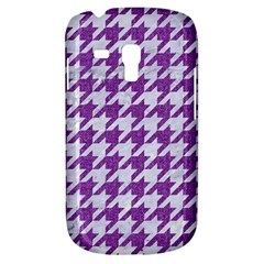 Houndstooth1 White Marble & Purple Denim Galaxy S3 Mini
