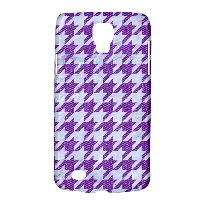HOUNDSTOOTH1 WHITE MARBLE & PURPLE DENIM Galaxy S4 Active