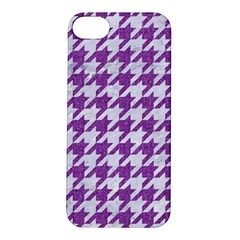 Houndstooth1 White Marble & Purple Denim Apple Iphone 5s/ Se Hardshell Case by trendistuff