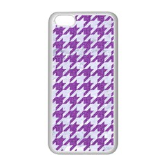 Houndstooth1 White Marble & Purple Denim Apple Iphone 5c Seamless Case (white) by trendistuff