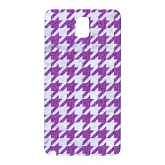 Houndstooth1 White Marble & Purple Denim Samsung Galaxy Note 3 N9005 Hardshell Back Case
