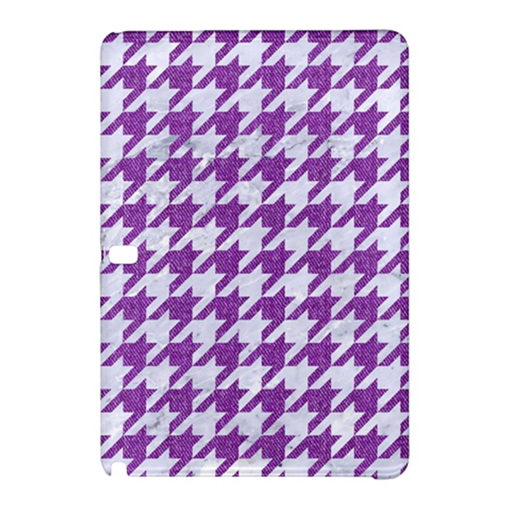 HOUNDSTOOTH1 WHITE MARBLE & PURPLE DENIM Samsung Galaxy Tab Pro 12.2 Hardshell Case
