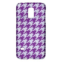 Houndstooth1 White Marble & Purple Denim Galaxy S5 Mini