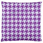 HOUNDSTOOTH1 WHITE MARBLE & PURPLE DENIM Standard Flano Cushion Case (One Side) Front
