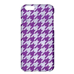 Houndstooth1 White Marble & Purple Denim Apple Iphone 6 Plus/6s Plus Hardshell Case by trendistuff