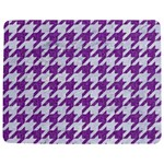 HOUNDSTOOTH1 WHITE MARBLE & PURPLE DENIM Jigsaw Puzzle Photo Stand (Rectangular) Front
