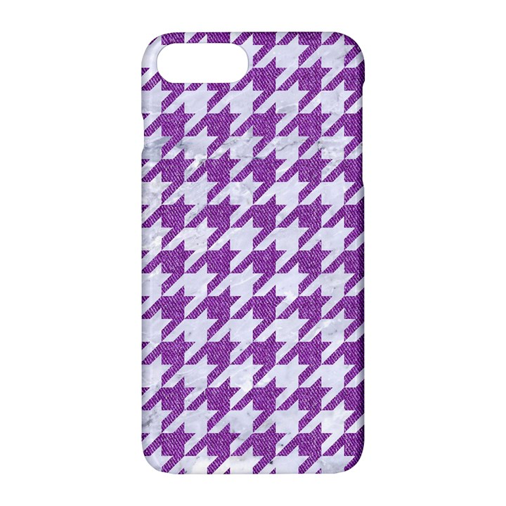 HOUNDSTOOTH1 WHITE MARBLE & PURPLE DENIM Apple iPhone 7 Plus Hardshell Case