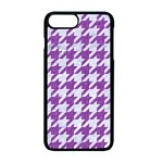 HOUNDSTOOTH1 WHITE MARBLE & PURPLE DENIM Apple iPhone 7 Plus Seamless Case (Black) Front